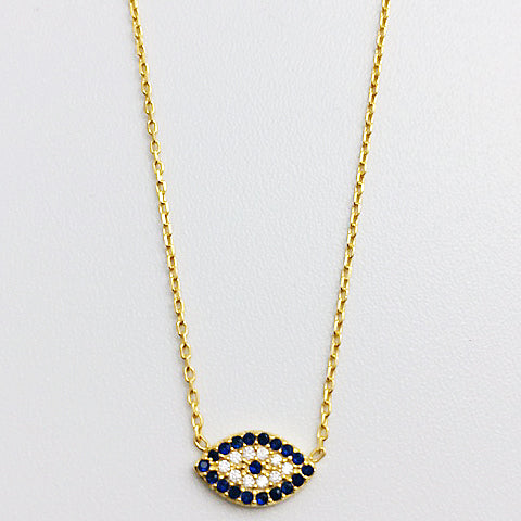 Gammie Eye Of Protection Swarovski Crystal Fine Chain Necklace - Gammies - Jewellery - Paloma + Co Adelaide Boutique