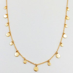Gold Circle Fine Chain  Necklace
