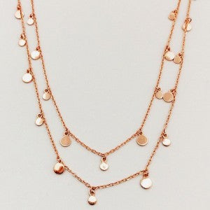 Circle Fine Chain Rose Gold  Necklace