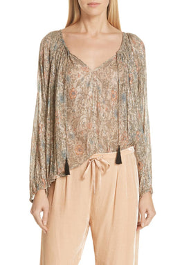 U Mes Demoiselles Gina Lurex Blouse - Mes Demoiselles - FASHION - Paloma + Co Adelaide Boutique