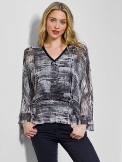 Go by Go Silk Go Vee Kimono Printed Blouse - Go Silk - FASHION - Paloma + Co Adelaide Boutique