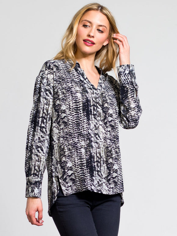 Go by Go Silk Everyday Shirt Snake Print - Go Silk - FASHION - Paloma + Co Adelaide Boutique