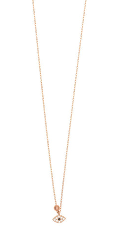 Gregio Eye Necklace rose gold - Gregio - Jewellery - Paloma + Co Adelaide Boutique