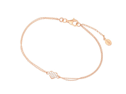 Gregio heart bracelet rose gold - Gregio - Jewellery - Paloma + Co Adelaide Boutique