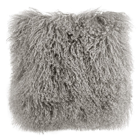 Tibetan Mongolian Wool Cushion Grey