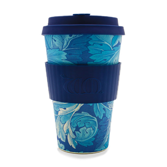 William Morris Acanthus Re-usable Bamboo 14oz Coffee Cup - Ibu Bambu - Gifts - Paloma + Co Adelaide Boutique