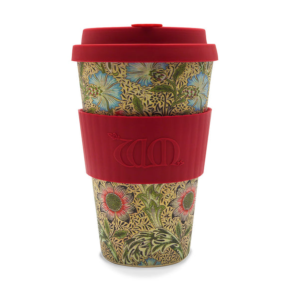 William Morris Bamboo 14oz Coffee Cup - Ibu Bambu - Gifts - Paloma + Co Adelaide Boutique