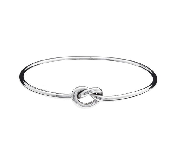 Iron Clay Bangle Silver with Ball
