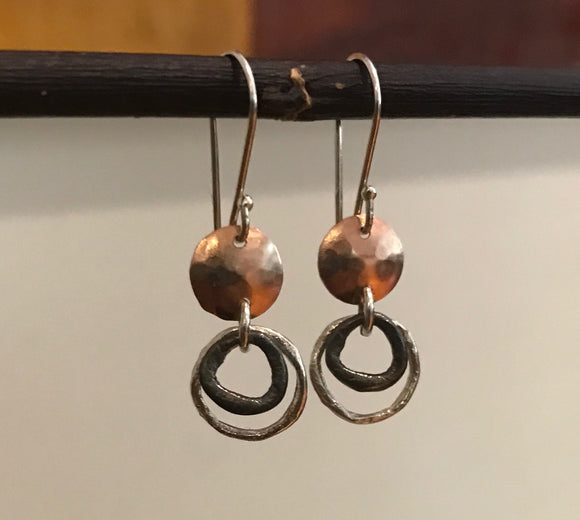 Israeli Two Tone Drop Earrings - Smadar Designs - Jewellery - Paloma + Co Adelaide Boutique