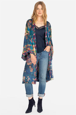 Johnny Was Hazel Long Embroidered Reversible Kimono