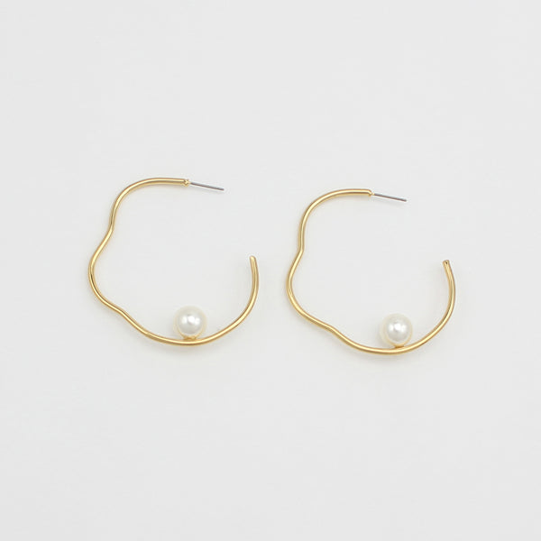 Jolie and Deen Bella Gold Pearl Hoop - Jolie & Deen - Jewellery - Paloma + Co Adelaide Boutique