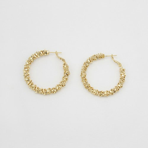Jolie and Deen Elle Gold Hoop Earring - Jolie & Deen - Jewellery - Paloma + Co Adelaide Boutique