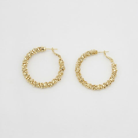 Jolie and Deen Elle Gold Hoop Earring