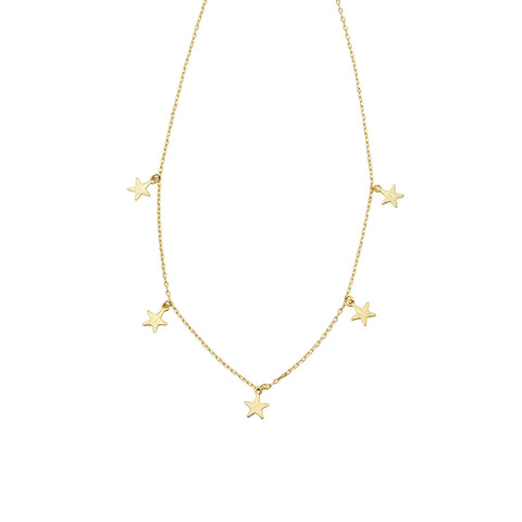 Jolie & Deen Multi Star Necklace Gold