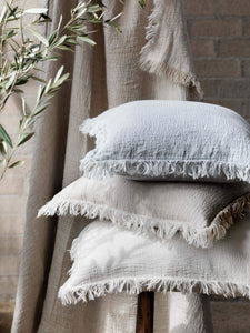 L and M Home Ava Chalk Linen Cushion