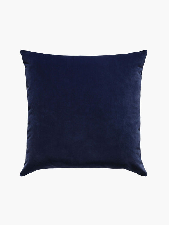 L M Home Etro Indigo Velvet and Linen Cushion
