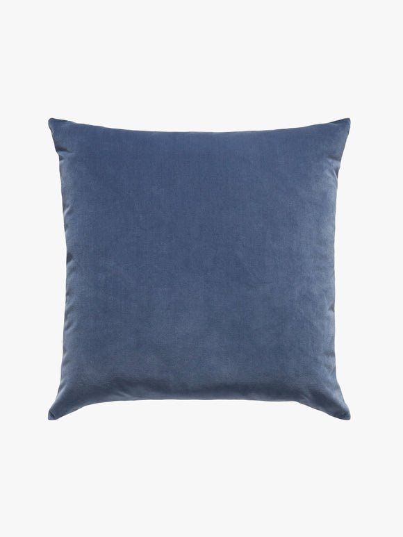 A L and M Home Etro Storm Velvet and Linen Cushion