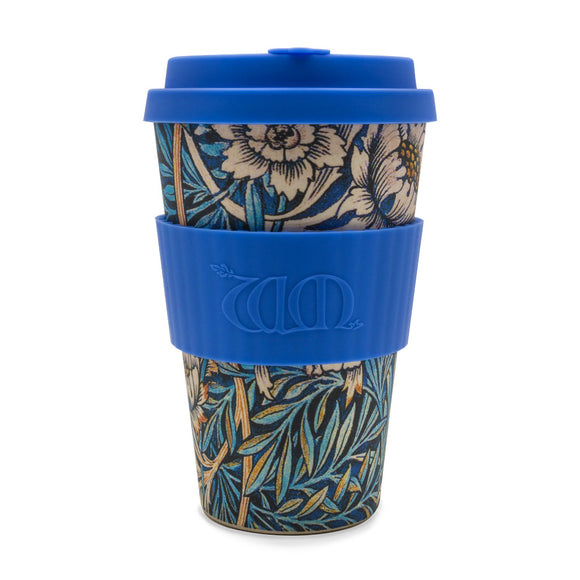 William Morris Lily Re-usable Bamboo 14oz Coffee Cup - Ibu Bambu - Gifts - Paloma + Co Adelaide Boutique