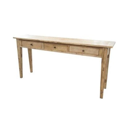 A Elm Console Table 3 drawer.