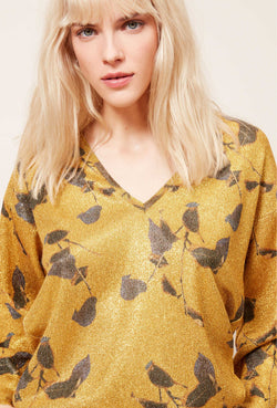 A Mes Demoiselles Garfield Gold Sweater - Mes Demoiselles - FASHION - Paloma + Co Adelaide Boutique
