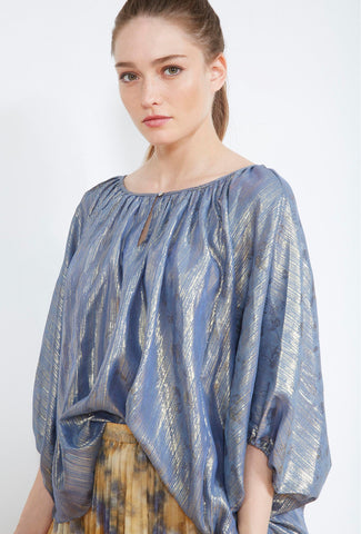 Mes Demoiselles Corfou Poncho Blue Shirt - Mes Demoiselles - Fashion - Paloma + Co Adelaide Boutique