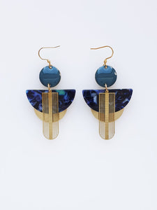 Middle Child Songstress Blue Drop Earring