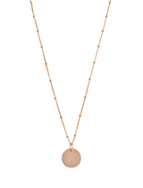 Misuzi The Aria - Classic disc necklace on bead chain - Gold, Silver, Rose Gold - Misuzi - Jewellery - Paloma + Co Adelaide Boutique