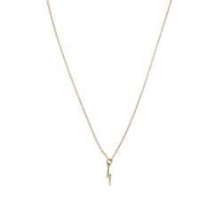 Misuzi The Zoey- Mini Lightening Bolt Necklace Gold - Misuzi - Jewellery - Paloma + Co Adelaide Boutique
