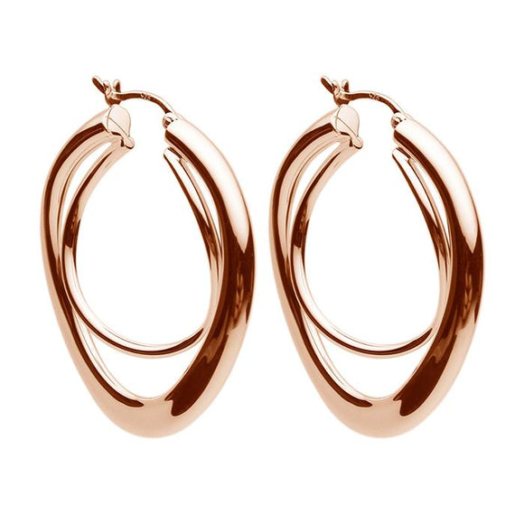 Najo Strudel Rose Gold Hoop Earrings - NAJO - Jewellery - Paloma + Co Adelaide Boutique