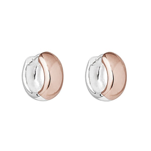 Najo Breeze Rose Silver Huggie Earrings - Paloma + Co -  - Paloma + Co Adelaide Boutique
