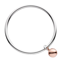 Najo Shayla Bangle Silver with Rose Gold  Ball - NAJO - Jewellery - Paloma + Co Adelaide Boutique