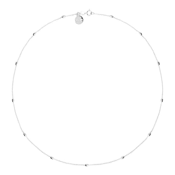 A Najo Like A Breeze Silver Necklace 45cm