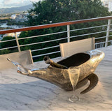 Bottle Holder Humpback Whale  Nickel Plated Wine Cooler