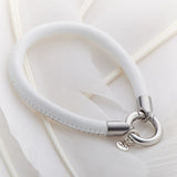 Z Palas Leather Ring Clasp Bracelet White - Palas - Jewellery - Paloma + Co Adelaide Boutique