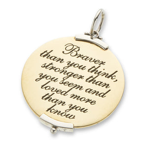 Palas Jewellery Braver than you think Charm - Palas - Jewellery - Paloma + Co Adelaide Boutique