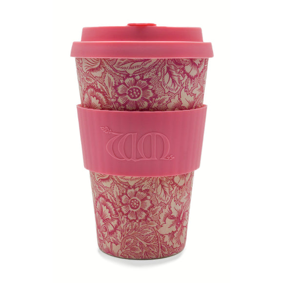 William Morris Poppy Re-usable Bamboo 14oz Coffee Cup - Ibu Bambu - Gifts - Paloma + Co Adelaide Boutique