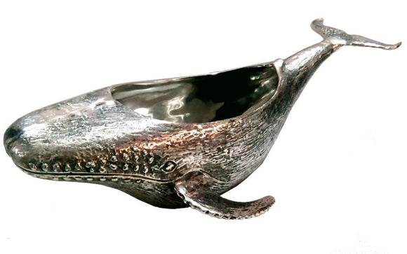 Whale Bottle Holder Nickel Plated Wine Cooler - Russell Collections - Homeware - Paloma + Co Adelaide Boutique