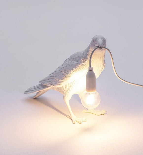 Seletti Bird Lamp Waiting White - SELETTI - Homeware - Paloma + Co Adelaide Boutique