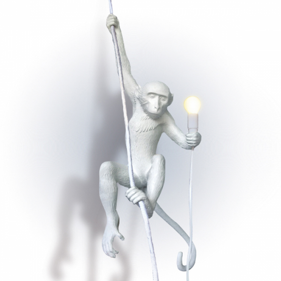 Seletti Monkey Lamp Hanging White - SELETTI - Homeware - Paloma + Co Adelaide Boutique