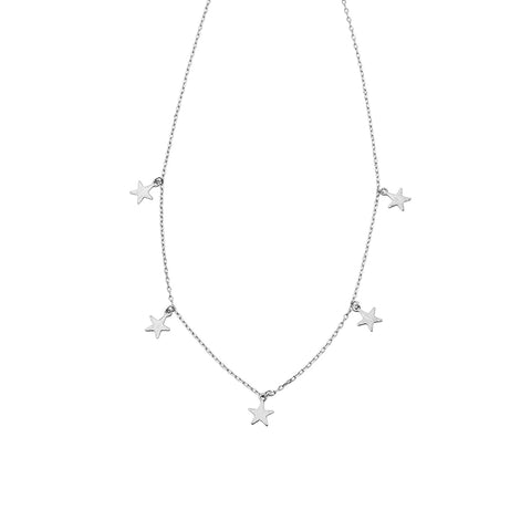 Jolie & Deen Multi Star Necklace Silver - Jolie & Deen - Jewellery - Paloma + Co Adelaide Boutique