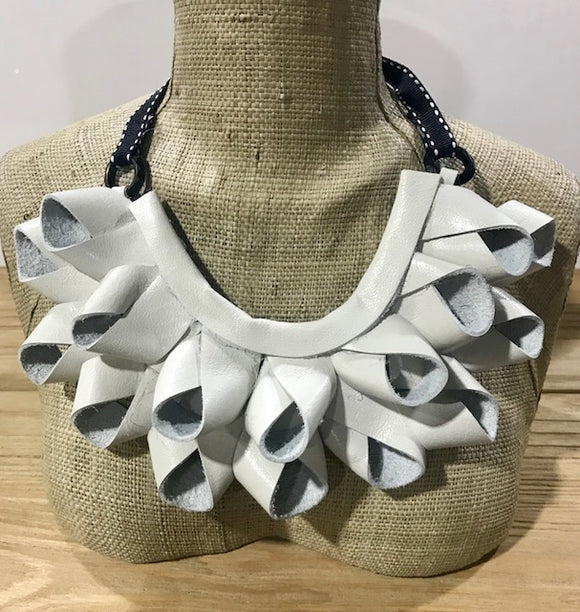 Soal Sister White  Leather Necklace - Soal Sister - Jewellery - Paloma + Co Adelaide Boutique