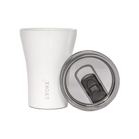 Sttoke Ceramic Resusable Thermal Coffee Cup White