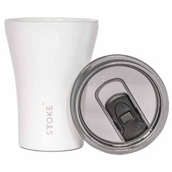 Sttoke Ceramic  Resusable Thermal Coffee Cup White - Design Mode International - Homeware - Paloma + Co Adelaide Boutique