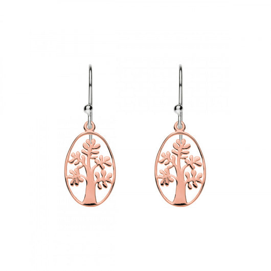 Najo Summertime Rose Gold Tree Of Life Earring