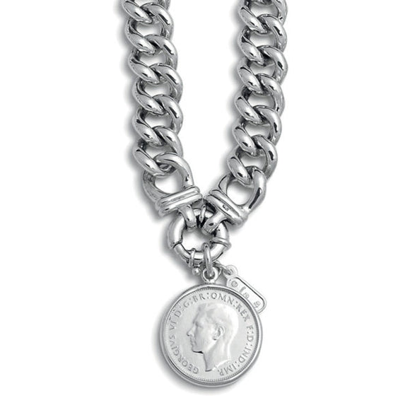 A Von Treskow Medium Mama Sterling Silver Necklace with Florin