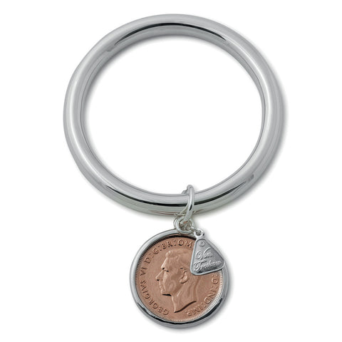 Von Treskow SILVER 8MM GOLF BANGLE WITH PENNY