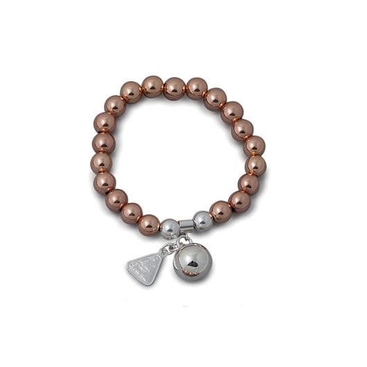 Von Treskow ROSE GOLD STRETCHY BRACELET WITH CHIME BALL (8mm ball) - Von Treskow - Jewellery - Paloma + Co Adelaide Boutique