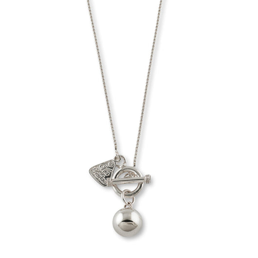Von Treskow BOX CHAIN NECKLACE WITH SILVER BALL