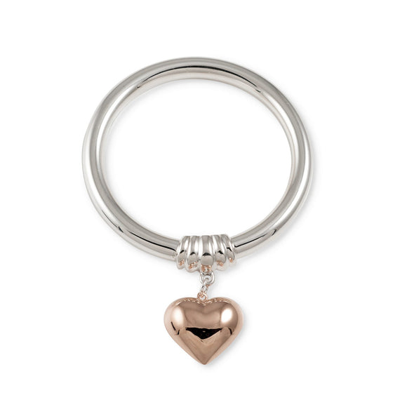 Von Treskow Golf Bangle with Rose Gold Puffed Heart - Von Treskow - Jewellery - Paloma + Co Adelaide Boutique