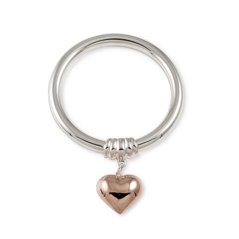 Von Treskow GOLF BANGLE WITH ROSE GOLD PUFFY HEART